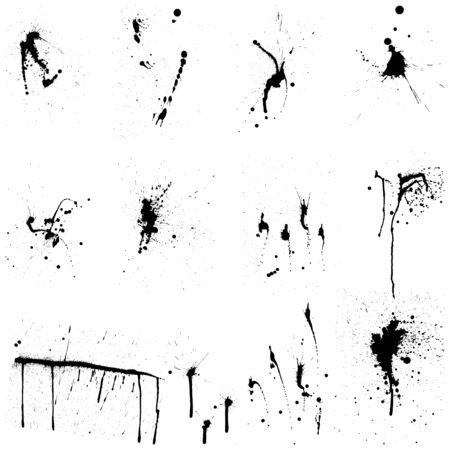 ink illustration: Abstract grunge vector background set  for design use.
