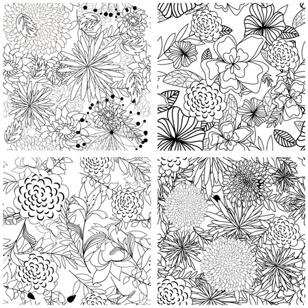Seamless vector floral pattern. For easy making seamless pattern just drag all group into swatches bar, and use it for filling any contours. Stock Vector - 9466260