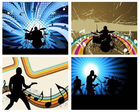 drum set: Rock group set. Vector illustration for design use.