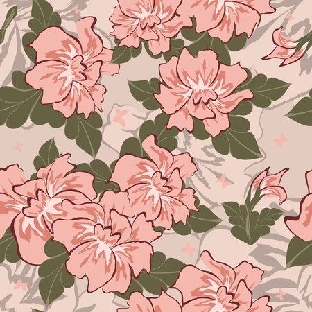 Seamless vector floral pattern. For easy making seamless pattern just drag all group into swatches bar, and use it for filling any contours. Stock Vector - 9504343