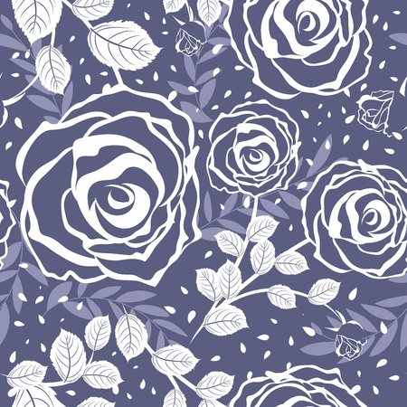 Seamless vector floral pattern. For easy making seamless pattern just drag all group into swatches bar, and use it for filling any contours. Stock Vector - 9504341