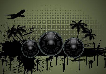 Musical grunge background. Vector illustration. Vector
