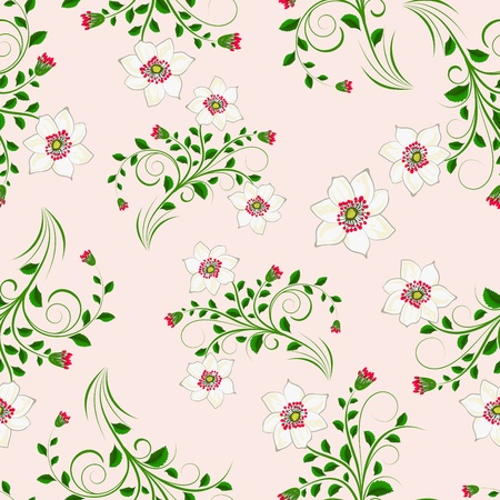 Seamless vector floral pattern. For easy making seamless pattern just drag all group into swatches bar, and use it for filling any contours. Stock Vector - 9705296