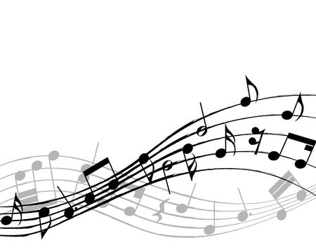 pentagrama musical: Vector musical toma nota de antecedentes del personal para uso de dise�o