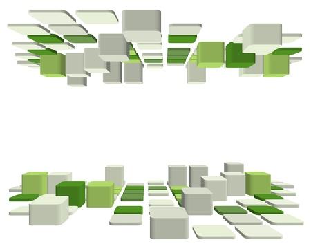bloques: Fondo de negocio facturado 3d abstracta para su uso en dise�o web