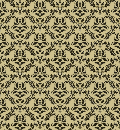 venetian victorian: Damask seamless vector pattern.  For easy making seamless pattern just drag all group into swatches bar, and use it for filling any contours. Illustration