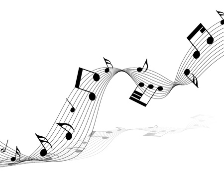 Vector muzieknoten personeel achtergrond voor ontwerp gebruik Stock Illustratie