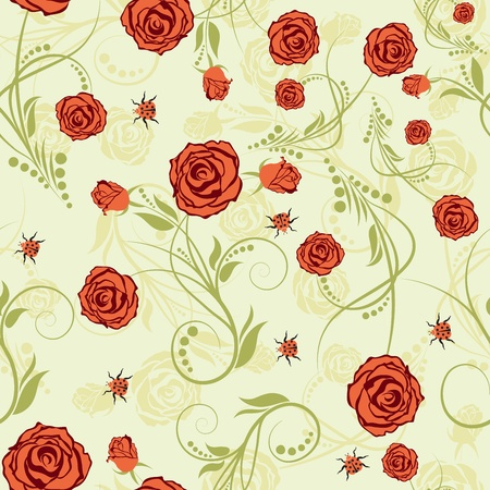 Seamless vector floral pattern. For easy making seamless pattern just drag all group into swatches bar, and use it for filling any contours. Stock Vector - 10089324