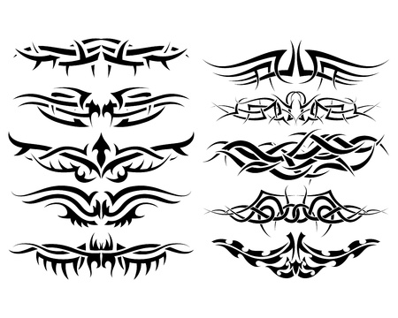 Patterns of tribal tattoo for design use Stock Vector - 10089303