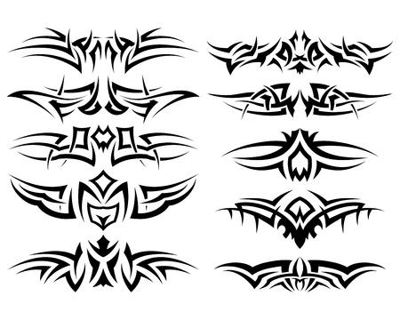 tribales: Utilizan patrones de tatuaje tribal de dise�o Vectores