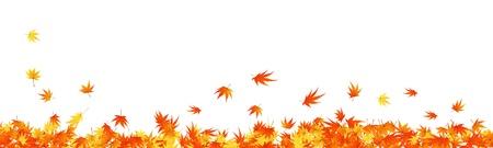 autumn leaf frame: Patr�n de arces oto�ales hojas. Ilustraci�n vectorial.