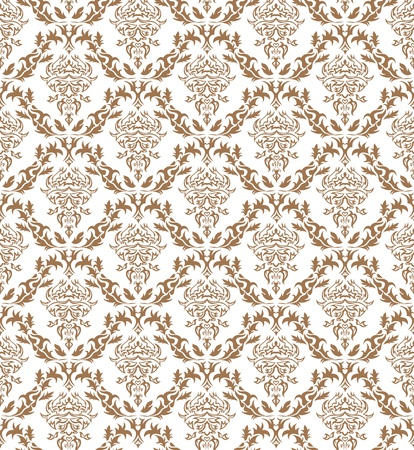 Damask seamless vector pattern.  For easy making seamless pattern just drag all group into swatches bar, and use it for filling any contours. Stock Vector - 10367832