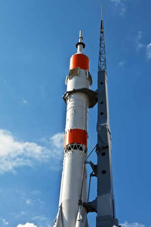 The Monument of  Russian space transport rocket. Samara. Russia. Stock Photo - 10390966