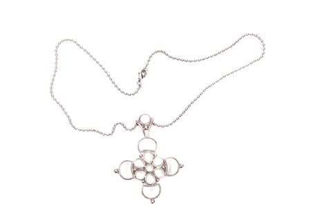 Beautiful bijouterie necklace  isolated on white background