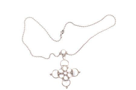 Beautiful bijouterie necklace  isolated on white background photo