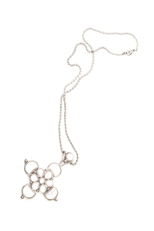 Beautiful bijouterie necklace  isolated on white background photo