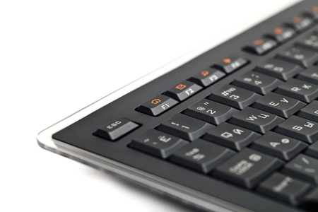Black business computer keyboard isolated on white background Stock Photo - 10767821