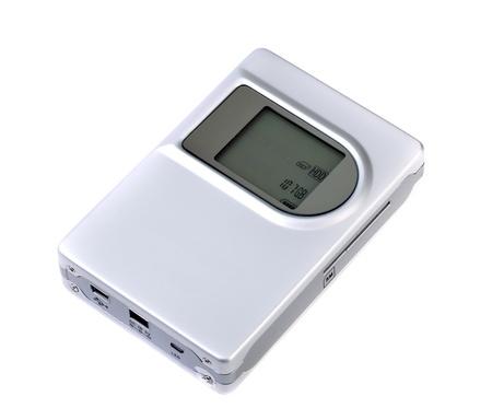 mmc: Macro view of digital photo bank isolated on white background