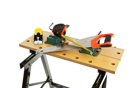 workbench: Work bench with clamp isolated on white background