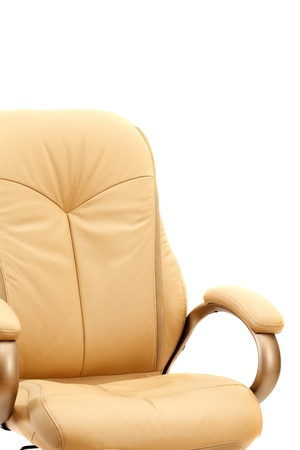Beige chief adjustable armchair isolated on white background photo