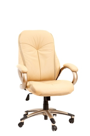 Beige chief adjustable armchair isolated on white background Stock Photo - 10767772