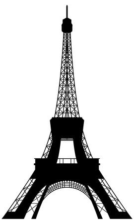 built tower: Torre Eiffel silueta. Ilustraci�n vectorial para el uso del dise�o.