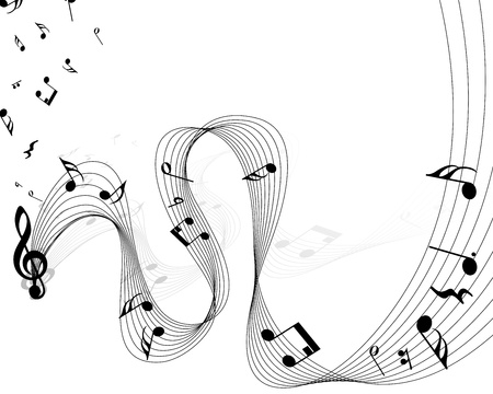 minims: Vector musical notes staff background for design use Illustration