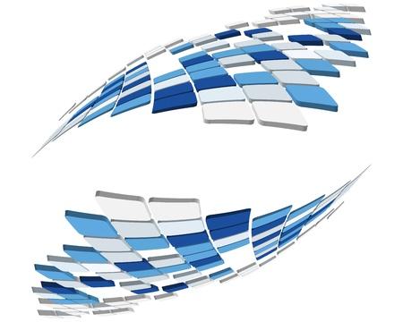 forme: Résumé 3d vérifié milieu des affaires pour une utilisation dans la conception web