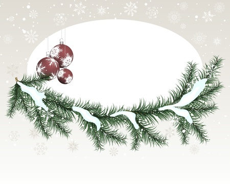 curve ball: Beautiful vector Christmas (New Year) card for design use