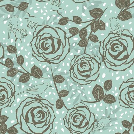 sketch pattern: Patr�n floral vector transparente. F�cil hacer transparente patr�n s�lo arrastrar todos los grupos en la barra de muestras y utilizarla para llenar cualquier contornos.