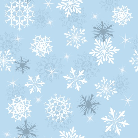 Seamless snowflakes background for winter and christmas theme Stock Vector - 10880633