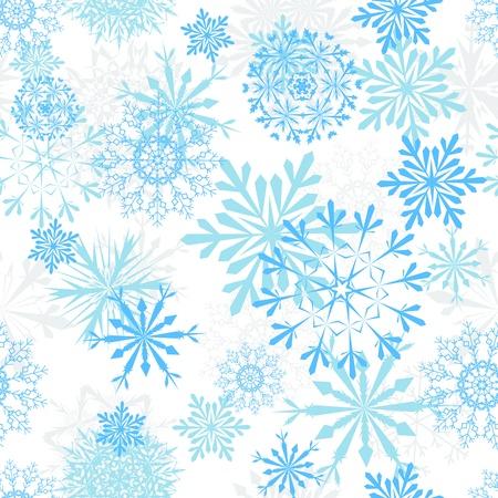Naadloze sneeuwvlokken achtergrond voor winter en Kerstmis thema Stock Illustratie