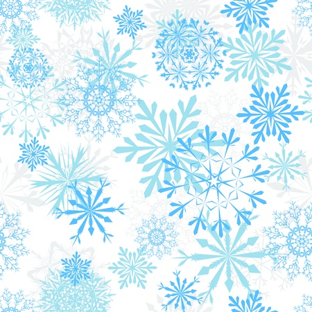 januar: Nahtlose Schneeflocken Hintergrund f�r Winter und Weihnachten Design Illustration
