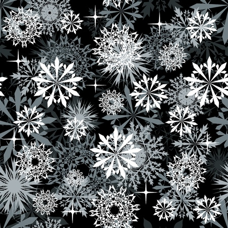 Seamless snowflakes background for winter and christmas theme Stock Vector - 10880637