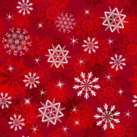 Seamless snowflakes background for winter and christmas theme Stock Vector - 10880640