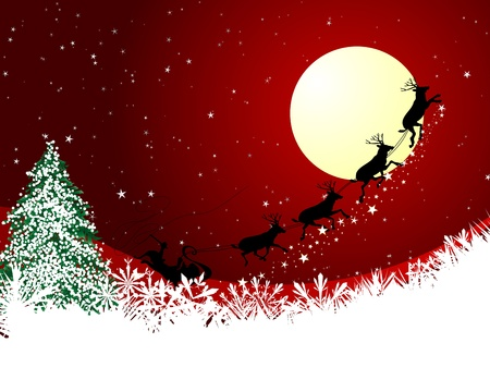 christmas deer: Beautiful vector Christmas (New Year) card for design use