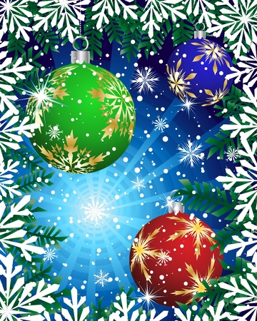 Beautiful vector Christmas (New Year) card for design use Stock Vector - 10917710