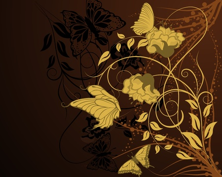 scrool: Abstract floral vector background for design use