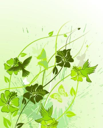 Fondo de vector floral abstracto para uso de diseño