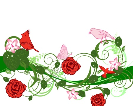 abstracts: Abstract floral vector background for design use