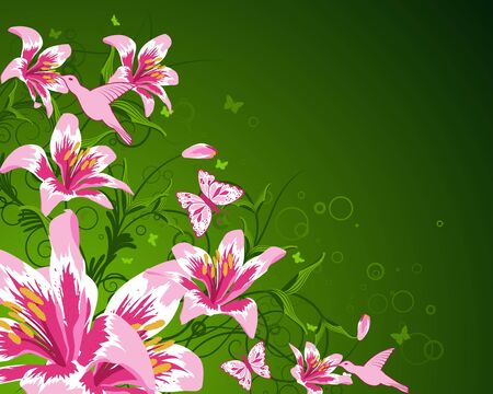 Abstract floral vector background for design use