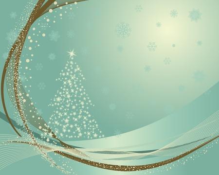 Prachtige vintage retro Christmas (Nieuwjaar) kaart voor het ontwerp gebruik