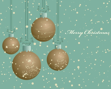 Beautiful vintage retro Christmas (New Year) card for design use Stock Vector - 10960135