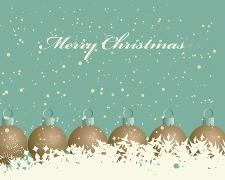 Beautiful vintage retro Christmas (New Year) card for design use Stock Vector - 10960153