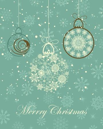 Schöne Retro Weihnachten (Neujahr) Karte für Design verwenden Vektorgrafik