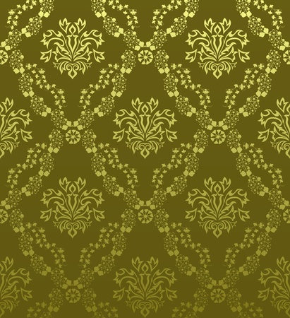 Damask seamless pattern.  For easy making seamless pattern just drag all group into swatches bar, and use it for filling any contours. Stock Vector - 10960212