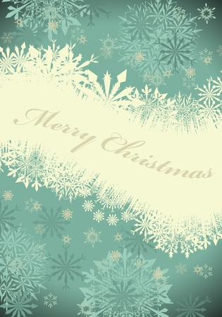 Vintage retro Christmas (New Year) card for design use Vector