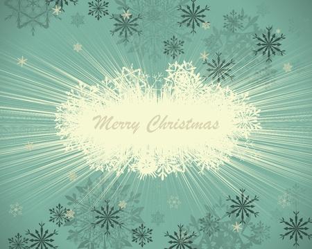 Vintage retro (Neujahr) Weihnachtskarte für Design-Verwendung