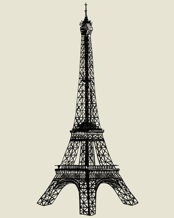 built tower: La torre Eiffel. boceto para la ilustraci�n del dise�o. Vectores