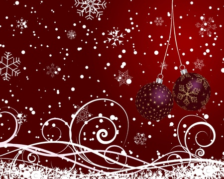 bright decoration color: Christmas (New Year) card for design use.